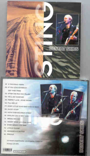 Sting / The Police - Desert Skies ( California 1999 )