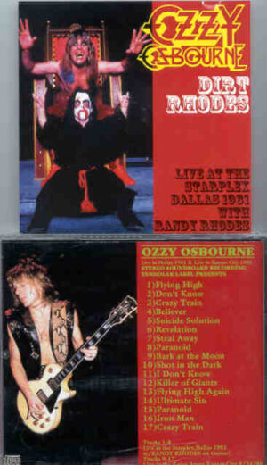 Black Sabbath - Dirt Rhodes ( Tendolar ) ( Live in Dallas , with Randy Rhodes , 1981 , Plus Kansas 1986 )
