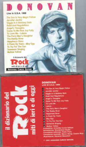 Donovan - Live In The USA 1968 ( Armando Curcio Editori )