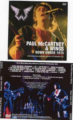 DVD Paul McCartney - Down Under 1975 ( Myers Music Bowl , Melbourne , Australia , November 13th , 1975 )
