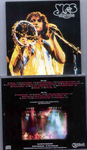 Yes - Dreams Supreme ( Highland )( 2 CD!!!!! SET ) ( Wembley Arena , London , June 28th , 1978 )