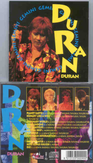 Duran Duran - Gemini ( Great Dane ) ( Academy Theatre , New York , February 13th , 1993 )