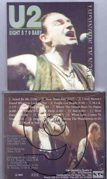 U2 - Eight 579 Baby Red Sun At Midnight ( KTS ) ( Osaka Castle Hall , Japan  , December 1st , 1989 )