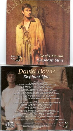 David Bowie - Elephant Man ( 2 CD!!!!! set ) ( Blackstone Theatre , Chicago , IL , USA , August 12th , 1980 )