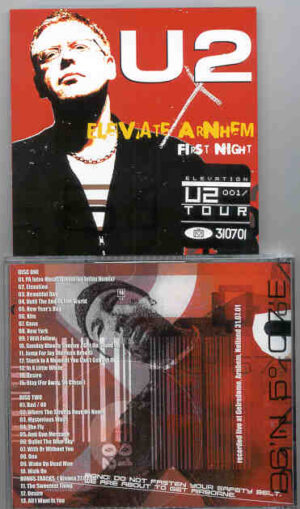 U2 - Elevate Arnhein First Night    ( 2 CD!!!!! SET ) ( Gelredome , Arnhein , Holland , July 31st , 2001 )