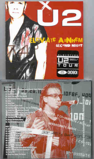 U2 - Elevate Arnhein Second Night( 2 CD!!!!! SET )( Gelredome , Arnhein , Holland , August 1st , 2001 )