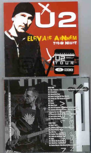 U2 - Elevate Arnhein Third Night   ( 2 CD!!!!! SET )( Gelredome , Arnhein , Holland , August 3rd , 2001 )