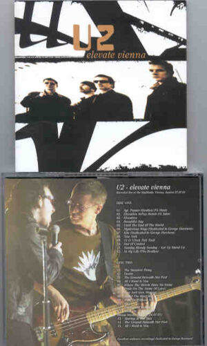 U2 - Elevate Vienna ( 2 CD!!!!! SET ) ( Stadthalle , Vienna , Austria , July 27th , 2001 )