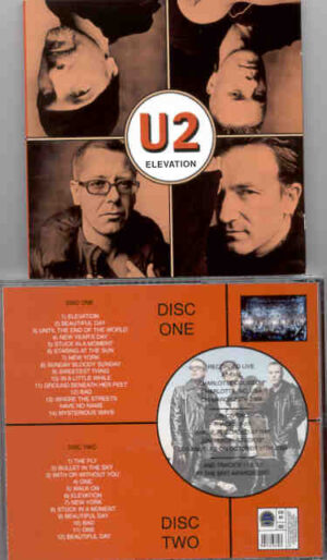 U2 - Elevation  ( 2 CD!!!!! SET ) ( Charlotte , NC , USA , March 29th , 2001 )