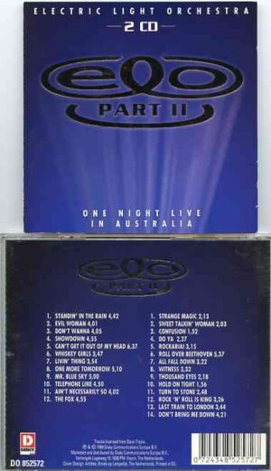 Electric Light Orchestra - One Night Live In Australia ( 2 CD!!!!! SET )( Entertainment Centre , Sydney , Australia March 18th & 19th , 1995 )