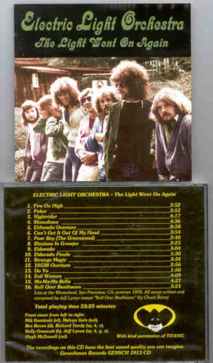 Electric Light Orchestra - The Light Went On Again ( Winterland , San Francisco , Summer 1976 )
