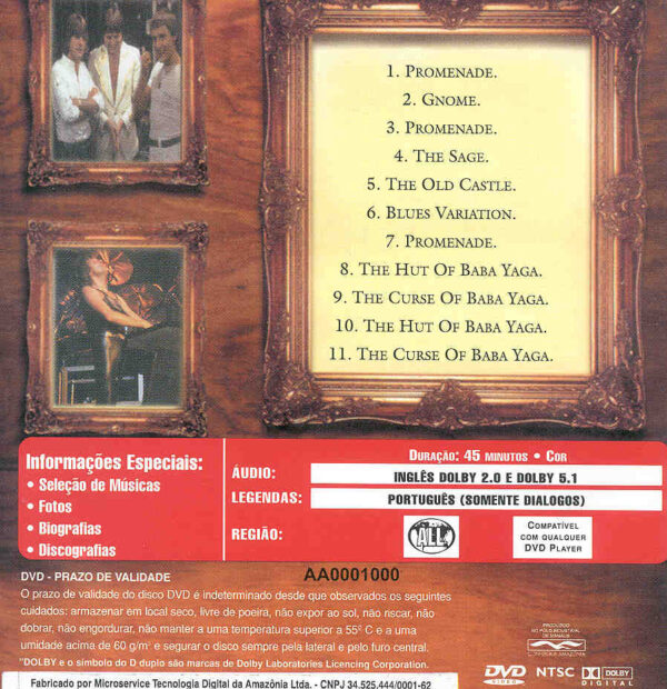 DVD Emerson, Lake & Palmer - Pictures At An Exhibition