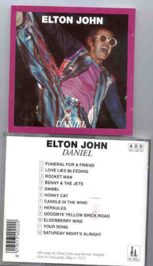 Elton John - Daniel ( Oil Well ) ( Newcastle , May 6th , 1973 )
