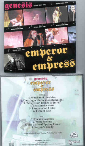 P. Gabriel / GENESIS / P. Collins - Emperor And Empress ( Highland )( 2 CD!!!!! SET ) ( Tower Theater , Philadelphia , USA , March 3rd , 1973 )