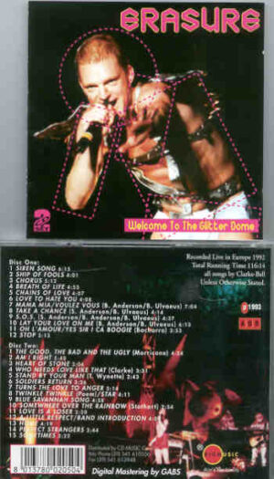 Erasure - Welcome To The Glitter Dome ( 2 CD!!!!! SET ) ( Live in Europe 1992 ) ( KTS )