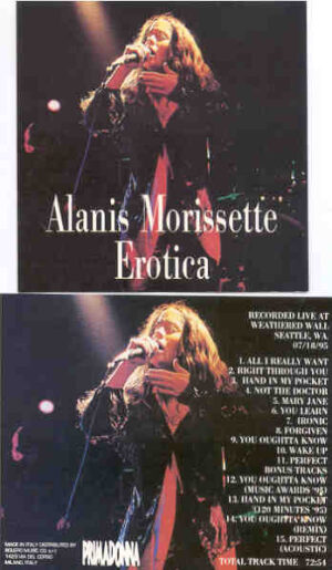 Alanis Morissette - Erotica ( Live At Weathered Wall , Seattle , WA , July 18th , 1995 )