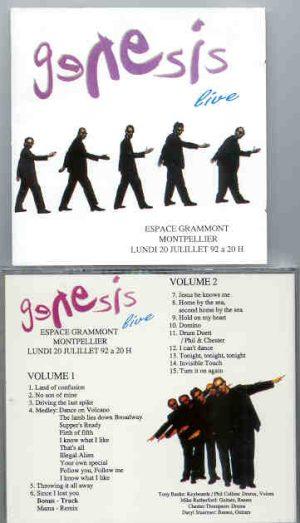 P. Gabriel  /  GENESIS  /  P. Collins - Espace Grammont Montpellier  ( France , July 20th , 1992 )  ( 2 CD!!!!! SET )