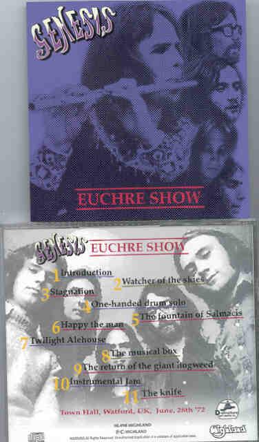 P  Gabriel / GENESIS / P  Collins - Euchre Show ( Highland )( Town Hall ,  Watford , UK , June 28th , 1972 )