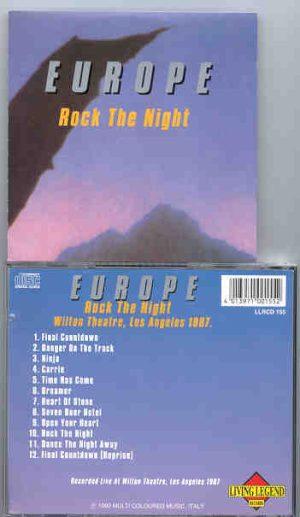 Europe -  Rock The Night  ( Living Legend ) ( Wilton Theater , Los Angeles , CA , USA , 1987 )