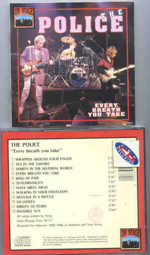 Sting / The Police - Every Breathe You Take ( On Stage Recs. ) ( Montreal & New Jersey 1983-1986 )