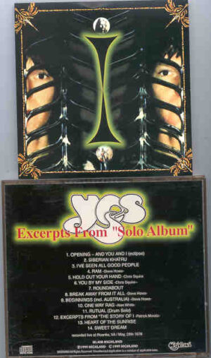 "Yes - Excerpts From "" Solo Album "" ( Highland ) ( Roanke , VA , May 28th , 1976 )"