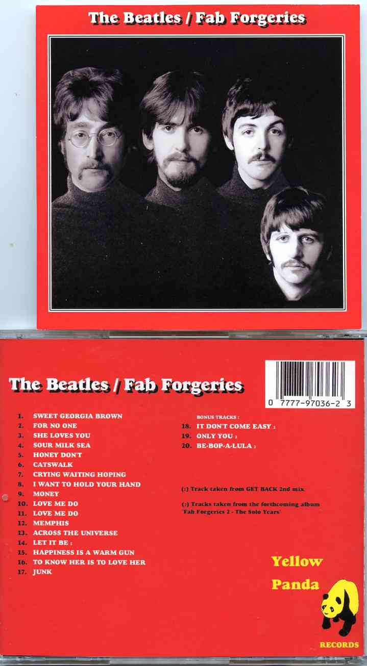 The Beatles - Fab Forgeries ( 20 tracks forgeries taken from Get Back 2nd  Mix and Solo Years )