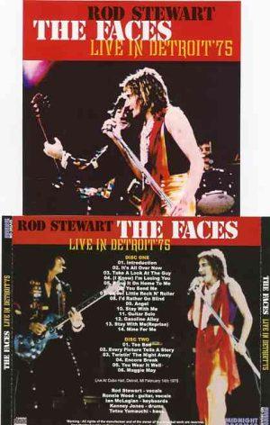 The Face / Rod Stewart - Live In Detroit 1975 ( 2 CD!!!!! set ) ( Cobo Hall , Detroit , MI , February 14th , 1975 )