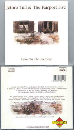 Jethro Tull - Farm On The Freeway ( With The Fairport Five ) ( USA , 1987 )  ( Living Legend )