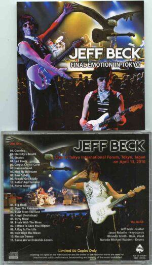 Jeff Beck - Final Emotion In Tokyo ( 2 CD!!!!! ) ( Tokyo International Forum , Tokyo , Japan , April 13th , 2010 )