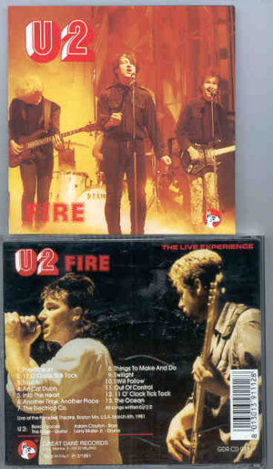 U2 - Fire ( Great Dane ) ( Live at Paradise Theater , Boston , MA , USA , March 6th , 1981 )