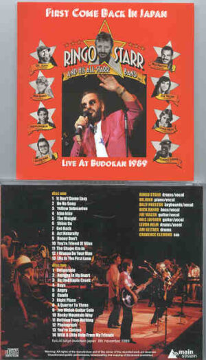 Ringo Starr - First Come Back In Japan  ( Budokan 1989 )  ( 2 CD!!!!! SET )