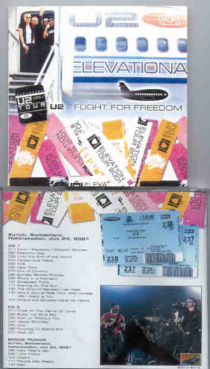 U2 - Flight For Freedom ( 2 CD!!!!! set )( Live at Hallenstadion , Zurich , Switzerland , July 24th 2001 + Bonustracks )