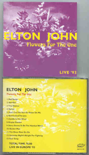 Elton John - Flowers For The One ( Live in Europe 1993 )