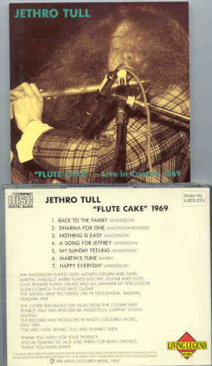 Jethro Tull - Flute Cake 1969 ( Stockholm , Sweden , Jan 1969 ) ( Living Legend )