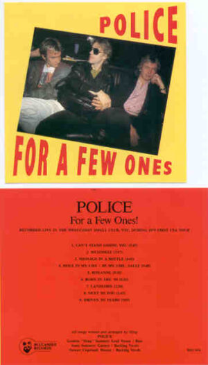 Sting / The Police - For A Few Ones ( The Police Live in the West-Coast Small Club , During The 1979 First USA Tour )