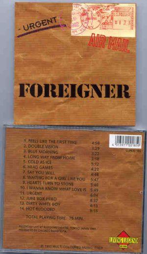Foreigner - Urgent ( Living Legend ) ( Budokan Theatre , Tokyo , Japan , 1989 )