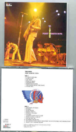 The Who - Ft. Worth 1976 ( 2 CD!!!!! SET ) ( Tarrant County Convention Center , Ft Worth , Texas , March 16th 1976 )
