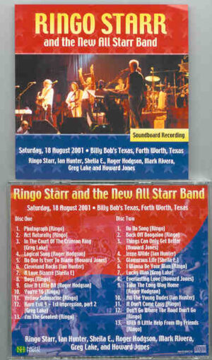 Ringo Starr - Ft Worth , Texas , August 18th 2001 ( 2 CD!!!!! SET )