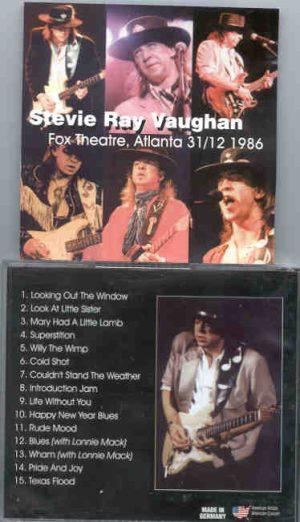 Stevie Ray Vaughan - Fox Theatre , Atlanta , December 31st , 1986