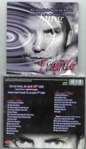 Sting / The Police - Fragile ( An Englishman In Paris April 15th , 1996 ) ( 2 CD!!!!! Set )