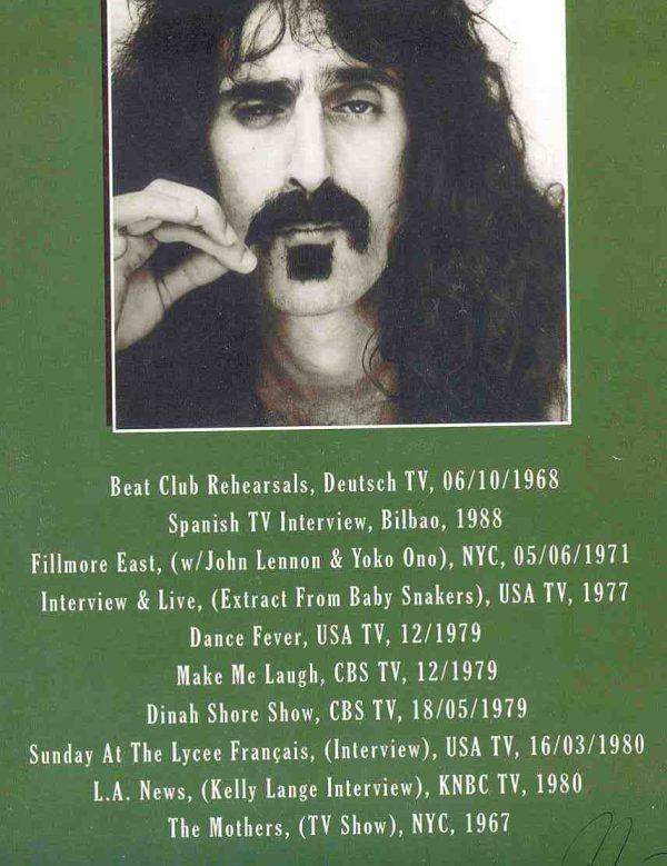 DVD Frank Zappa - Video Archive