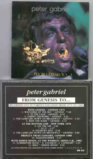 P. Gabriel  /  GENESIS  /  P. Collins - From Genesis To ... ( Peter Gabriel )