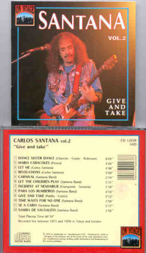Santana - Give And Take ( On Stage Recs )