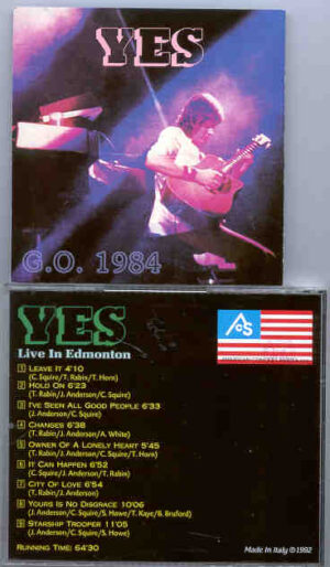 Yes - G.O. 1984 ( Live in Edmonton 1984 )