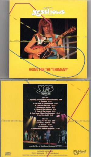 Yes - Going For The Germany ( Highland ) ( 2 CD!!!!! SET ) ( Live in Nurnberg , Germany November 19th , 1977 )