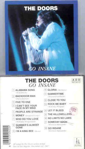 The Doors - Go Insane  ( Oil Well Recs ) ( Los Angeles , December 22nd , 1967 )