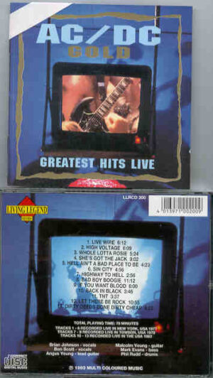 Ac-Dc - Greatest Hits Live Gold  ( Living Legend ) ( New York '77 - Towson '79 + USA Tour '83 )