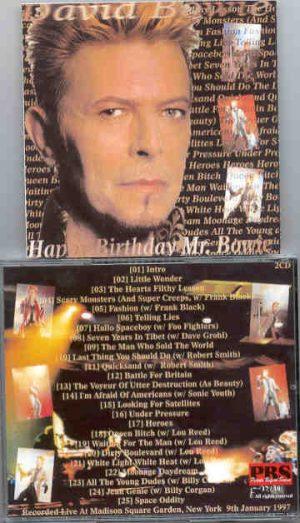 David Bowie - Happy Birthday Mr. Bowie ( 2 CD!!!!! SET ) ( MSG , NY , USA , January 9th , 1997 )