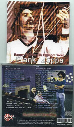 Frank Zappa - Happy Together In Fillmore West ( 2 CD!!!!! ) ( Fillmore West , San Francisco , CA , USA , November 5th & 6th , 1970 )