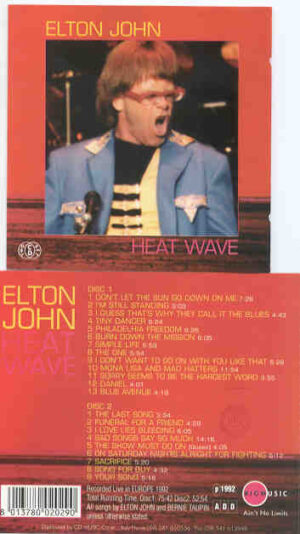 Elton John - Heat Wave   ( 2 CD!!!!! set ) ( Live in Europe 1992 ) ( Big Music )